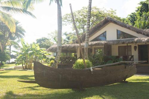A garden outside Orangea Village