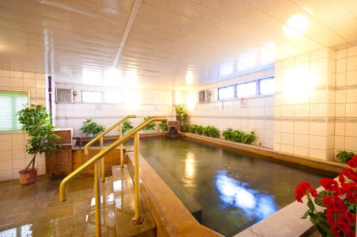 The swimming pool at or near Beppu Station Hotel