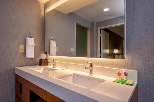 A bathroom at Hyatt Place Chicago O'Hare Airport