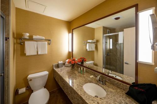 A bathroom at The Claridge - a Radisson Hotel