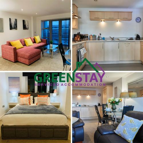 Greenstay Serviced Accommodation, Clarence Court- 1 Bed Serviced Apartment- Ideal For Contractors, Relocations, Essential Workers - Parking, Netflix,