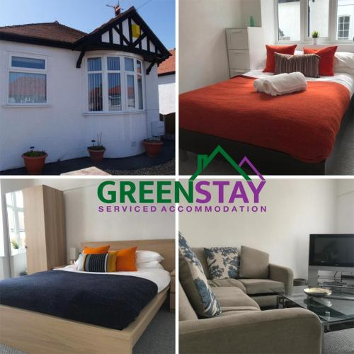2 Bed Bungalow at Greenstay Serviced Accommodation - Ideal for Contractors, Relocations, Essential Workers, Parking , Netflix and Wi-Fi