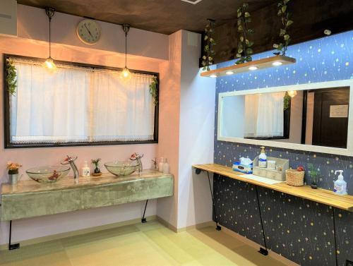 Un baño de Peace Park Hostel Kawate-ya