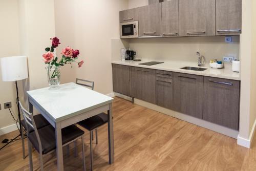 Una cocina o zona de cocina en SEVITUR Seville Comfort Apartments