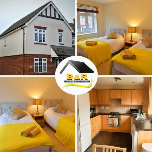B and R Serviced Accommodation, Amesbury, 3 Bedroom House with Free Parking, Wi-Fi and 4K smart TV, Archer House
