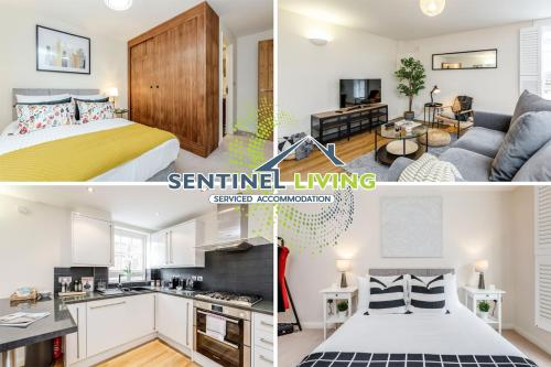 Sentinel Living Serviced Accommodation, Windsor, 2 Bedroom Apartment with Free Parking and WiFi