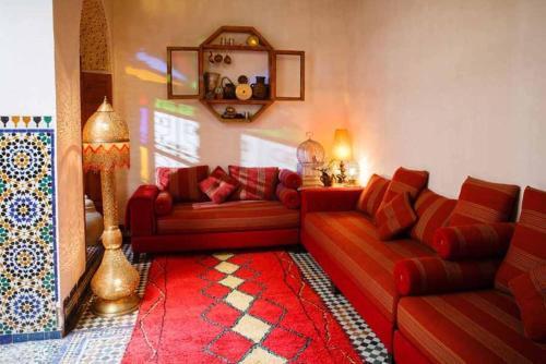 A seating area at Riad Idrissy