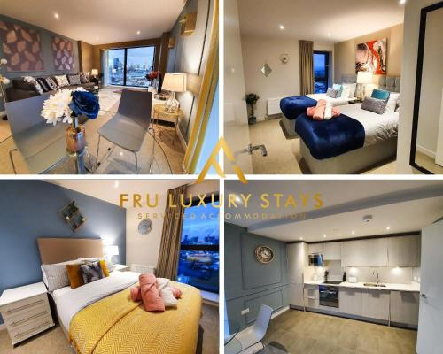 Fru Luxury Stays Serviced Accommodation *TIMELESS* - Manchester 2 Bedroom Apartment, sleeps 4. Gated Allocated Parking