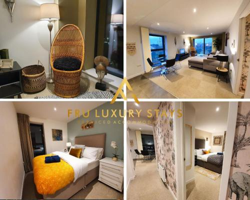 Fru Luxury Stays Serviced Accommodation *SIMBA* - Manchester 2 Bedroom Apartment, Sleeps 4. Gated Allocated Parking
