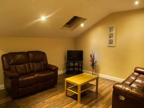 A seating area at Hillview Self Catering