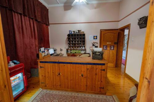 Een keuken of kitchenette bij Skinkikofi Guest House