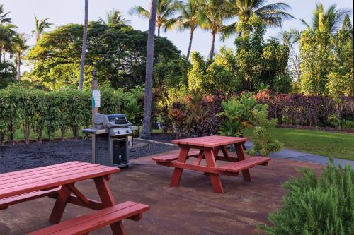 A garden outside Kona Coast Resort