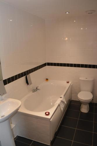 A bathroom at Best Western Stoke on Trent City Centre Hotel