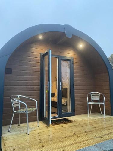 The pod with hot tub