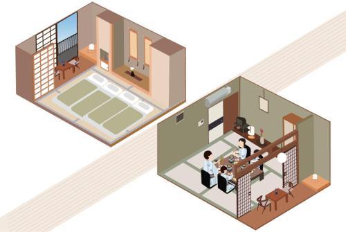 A planta de Hotel New Tsuruta