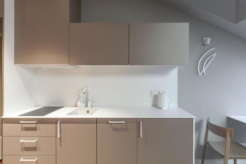 Кухня или мини-кухня в Somnia Apartments
