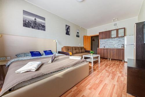 Гостиная зона в Apartment Hanaka Jubileinyi 78