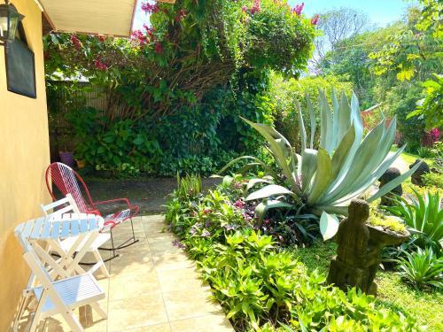 A garden outside B&B Hotel Vista Linda Montaña
