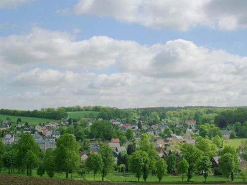 Blick auf Spacious Villa in Borstendorf with Gazebo aus der Vogelperspektive
