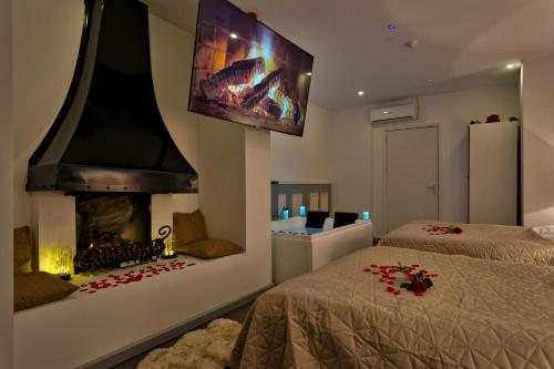 Een bed of bedden in een kamer bij Wellness Suite Zeist