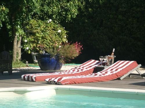 The swimming pool at or close to Charming Villa in Saint-Tropez France With Private Pool