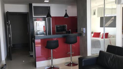 A kitchen or kitchenette at Loft Barra