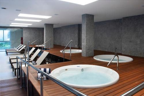 A bathroom at Exclusive Gramado by Gramado Parks
