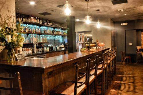 The lounge or bar area at O Hotel