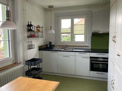 Küche/Küchenzeile in der Unterkunft Bed and Breakfast Hopfengrün