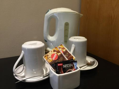 Coffee and tea-making facilities at Sulis Beach Hotel & Spa