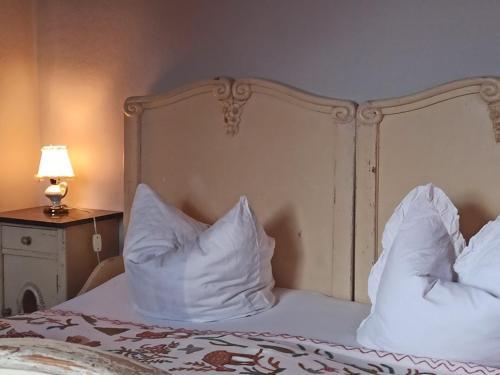 Ein Bett oder Betten in einem Zimmer der Unterkunft Herberge Bed&Bike Fischerstelle Hohensaaten