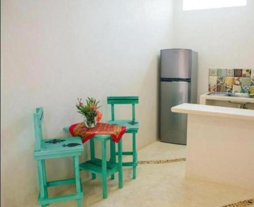A seating area at Corazon Mexicano Holbox