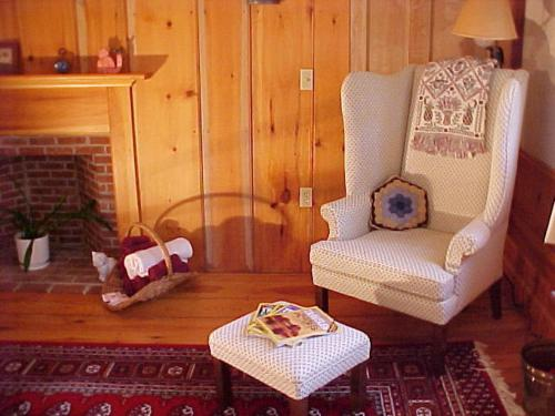 A seating area at George Perley House B&B