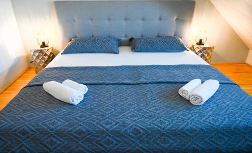 Postel nebo postele na pokoji v ubytování Modern Duplex Museumsquartier