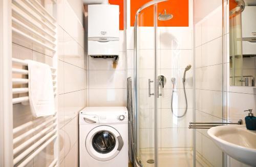 Koupelna v ubytování Bright Apartment Naschmarkt