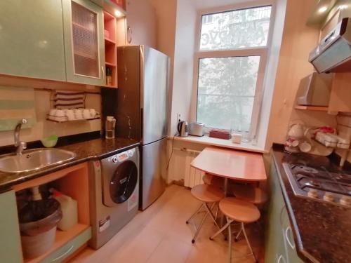 Кухня или мини-кухня в Гостевой дом Amirus
