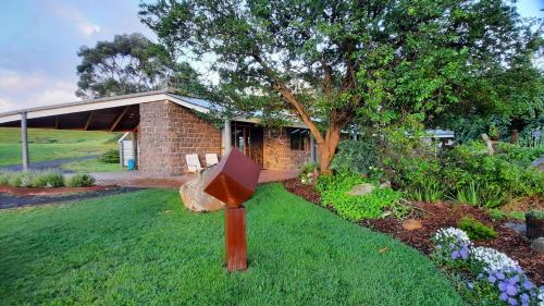 A garden outside Rockbank Retreat
