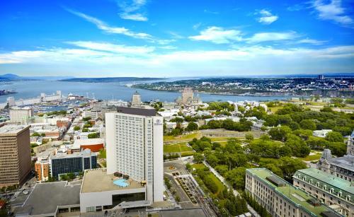 A bird's-eye view of Hilton Québec