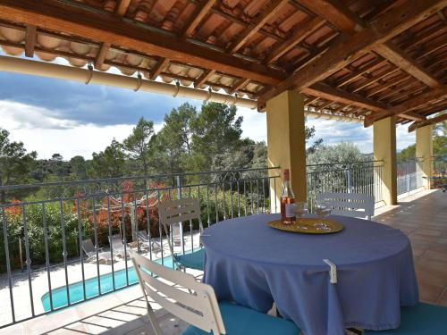 A view of the pool at Comfortable Villa with private pool in Vidauban or nearby