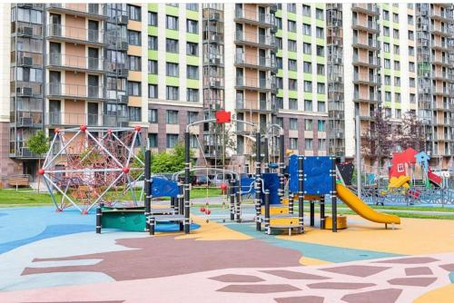 Children's play area at GoldenKey Apartment