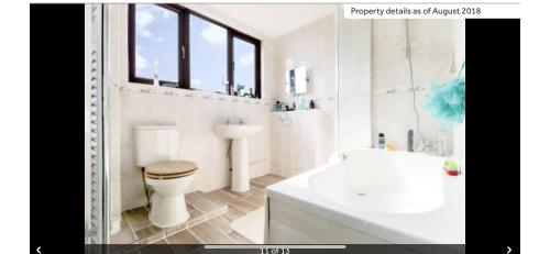 A bathroom at Latchingdon cottage