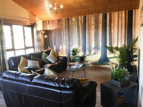 Silver Birch Lodge with Hot Tub near Cupar Fife