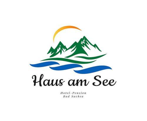 Das Logo oder Schild der Pension