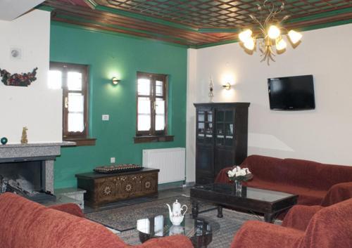 Χώρος καθιστικού στο Hotel Dryades