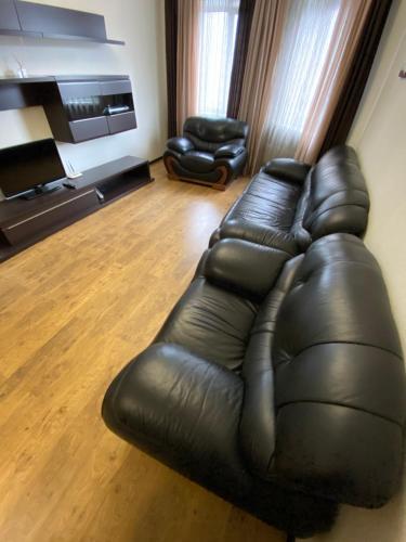 A seating area at Apartment Internatsionalnaya 19а