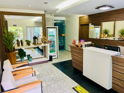 The lobby or reception area at Hotel Golden JK