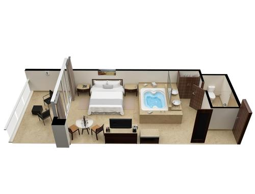 The floor plan of Isla Mujeres Palace - All Inclusive Adults Only