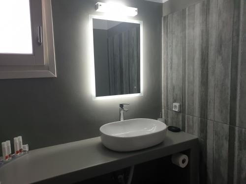 Ένα μπάνιο στο Villa Panorama