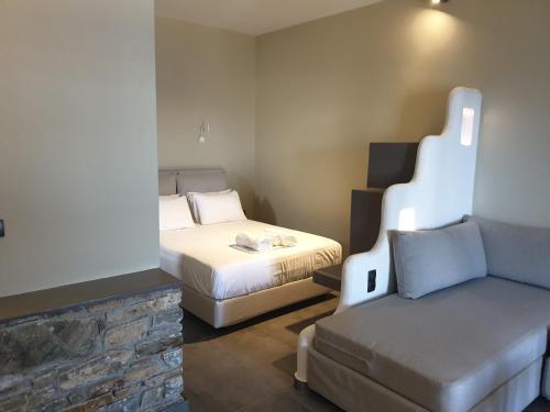 Ένα ή περισσότερα κρεβάτια σε δωμάτιο στο Villa Panorama