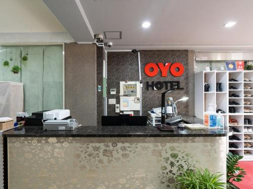The lobby or reception area at OYO Hotel Hikari House